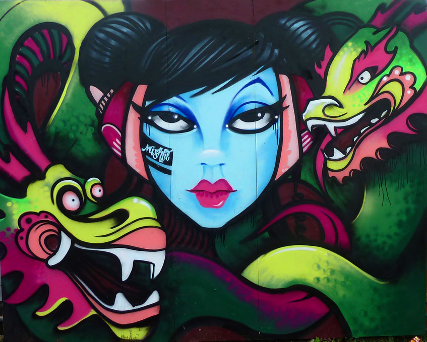 Mishfit - year of the dragon piece for upfest 2012