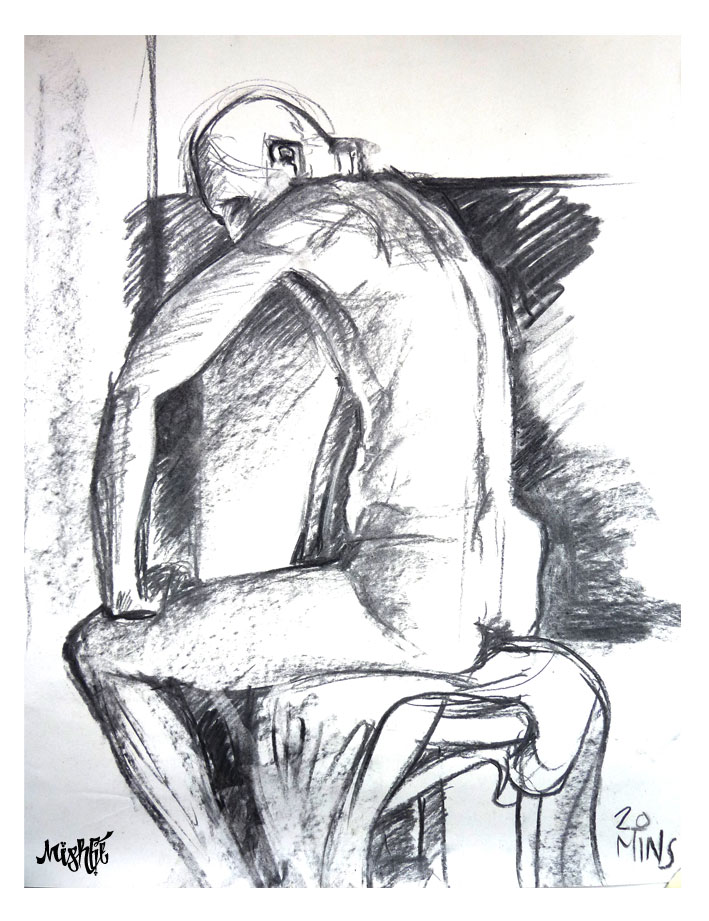 Life Drawing Class Male Model