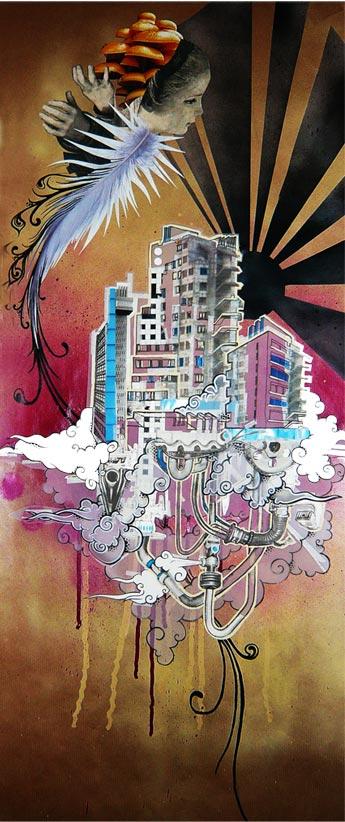Mishfit artist, collage art