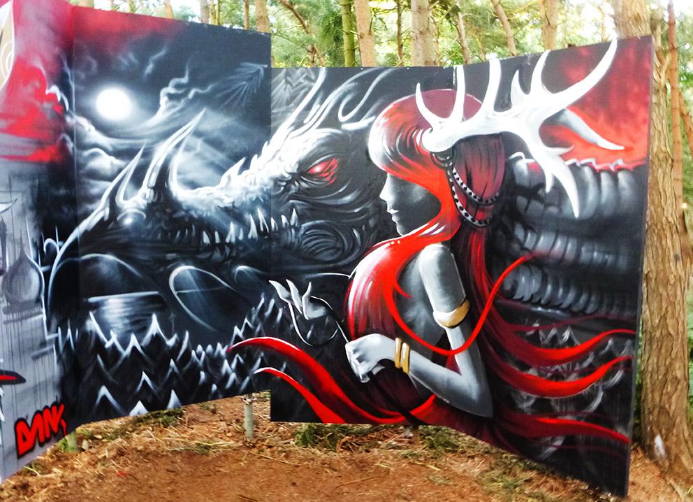 Latitude Festival, Mishfit, Live art, Graffiti, Dan Kitchener