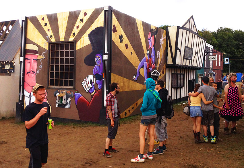 Mishfit graffiti at Boomtown Festival